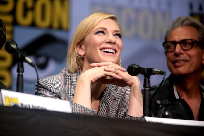 Un primo piano dell'attrice Cate Blanchett
