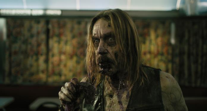 Iggy Pop in versione zombie in una scena del film