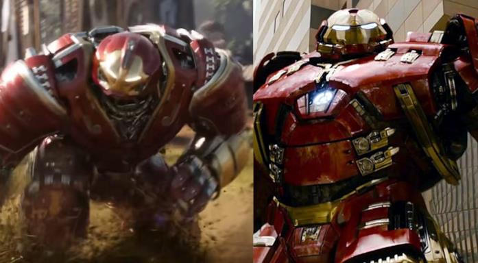 Le due Hulkbuster messe a confronto