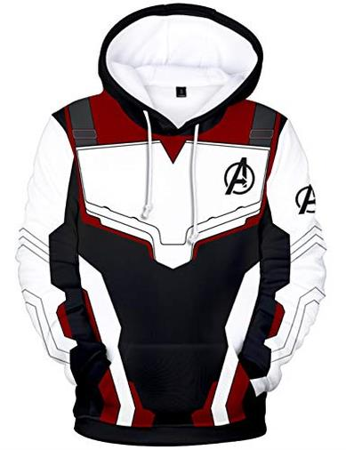 HUASON Bambini E Ragazzi Felpa con Cappuccio Avengers Endgame Superhero Quantum Realm Battle Jacket(S)