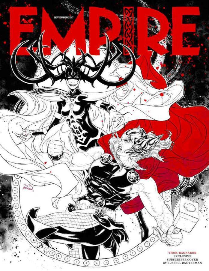 Hela e Thor sulla copertina di Empire