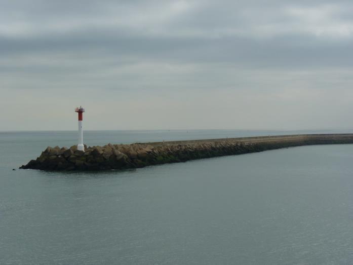 Il molo Est di Dunkirk, presente nel film