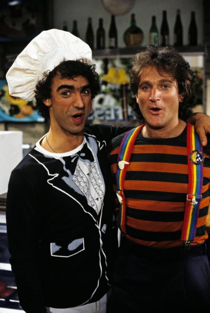 Robin Williams e Jay Thomas nella serie Mork & Mindy