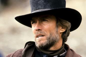 Clint Eastwood in primo piano