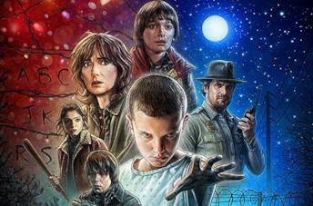 Poster della prima stagione di Stranger Things