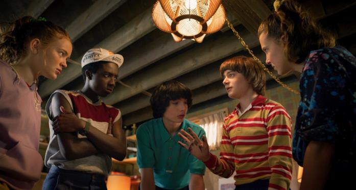 Max, Lucas, Mike, Will, Undici parlano nello scantinato di Mike