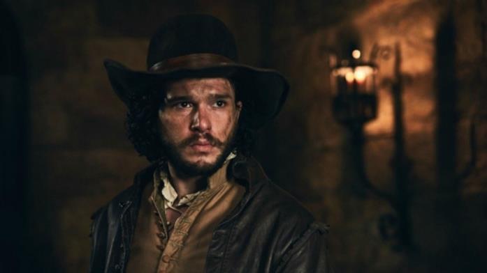 Kit Harington in una scena del dramma seicentesco Gunpowder firmato BBC