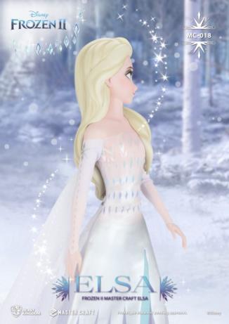 La statua 3D di Elsa di Frozen 2 di profilo