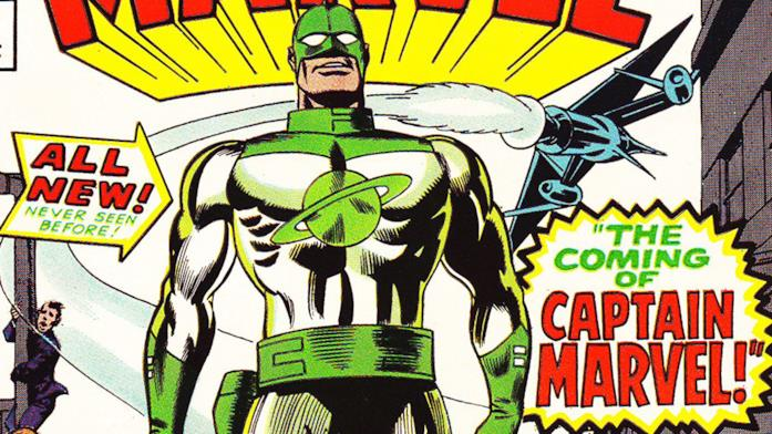 Il look originale di Captain Marvel nei comics