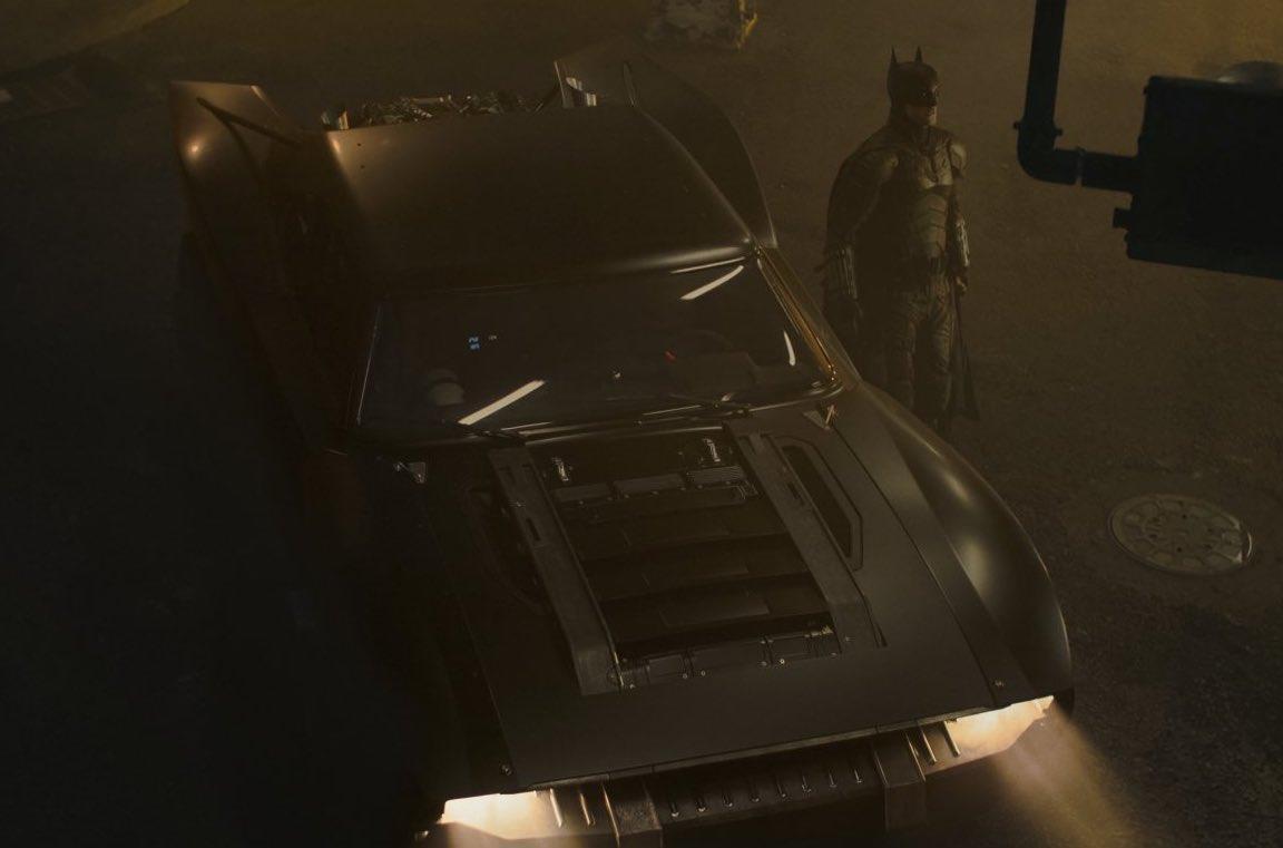Una foto della nuova Batmobile