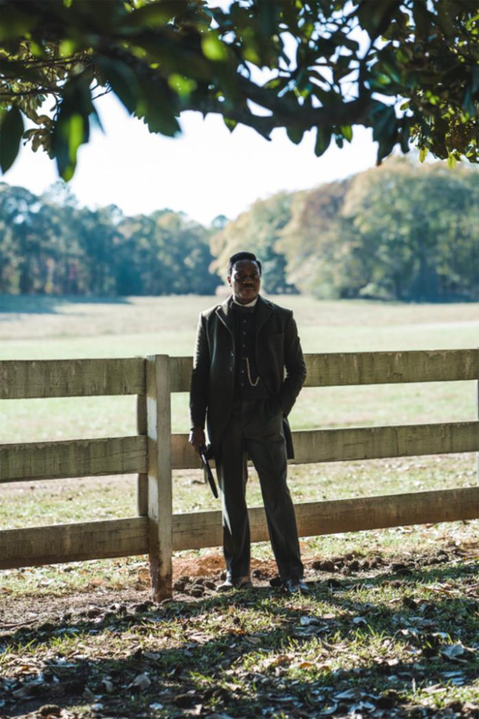 Uno dei protagonisti di The Underground Railroad in una scena della serie