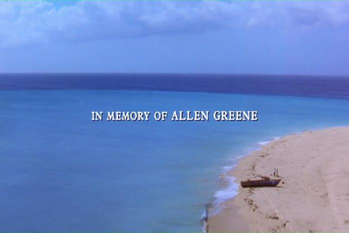 La dedica in memoria di Allen Greene nel film Le ali della libertà