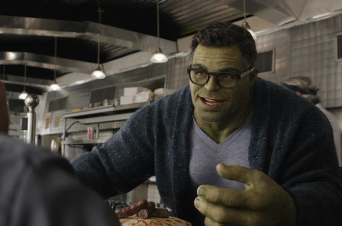 Un'immagine di Smart Hulk in Avengers: Endgame