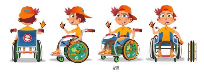 Will sulla sedia a rotelle