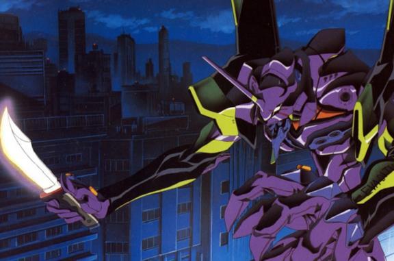 L'Eva-01 pronto a combattere