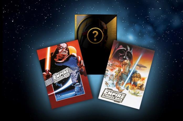Le tre carte omaggio a tema Guerre Stellari per acquisti di minimo 55 euro sul sito lego.com