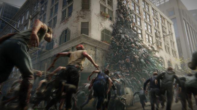 Migliaia di zombie in una sequenza del videogioco di World War Z