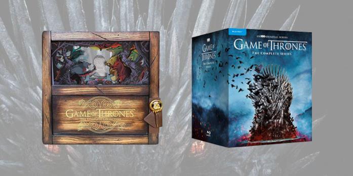 Le due edizioni del cofanetto completo di Game of Thrones