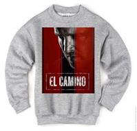 El Camino Breaking Bad Jessy Pinkman Maglione Felpa Unisex Grigio Sweater X-Large