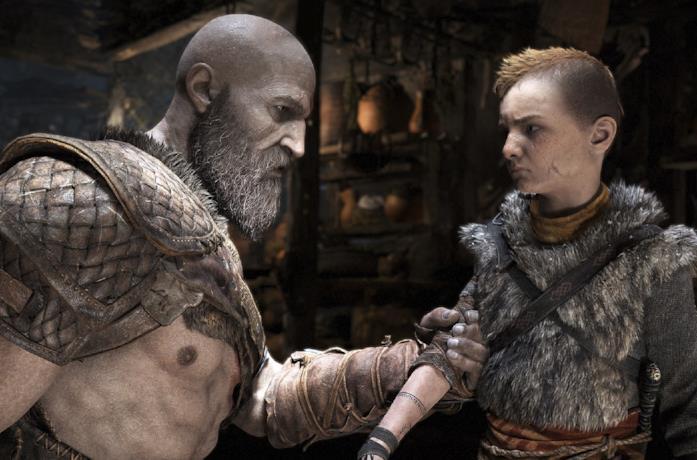 Kratos e Atreus in una sequenza di God of War
