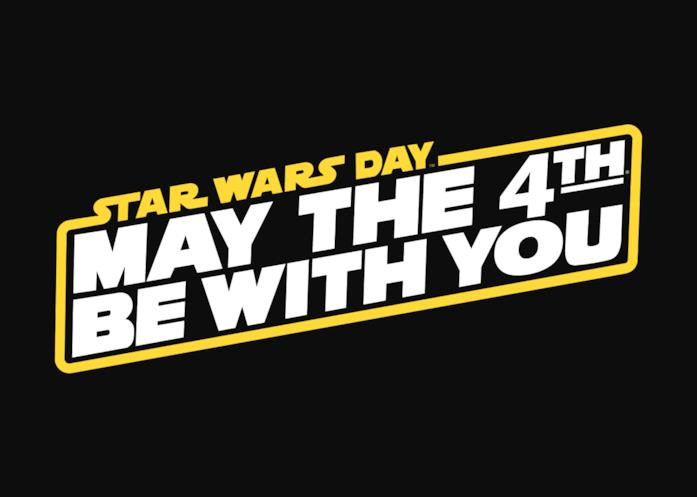 Il logo dello Star Wars Day su sfondo nero