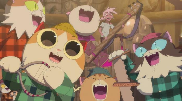 I folli gatti della serie di animazione Kipo e l'era delle creature straordinarie