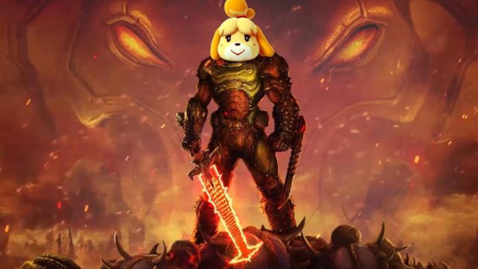 Doom e Animal Crossing meme