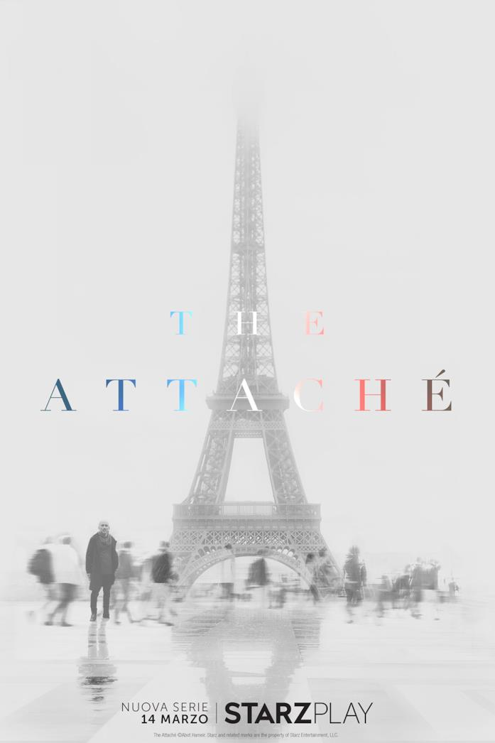 Il poster italiano della serie TV The Attaché