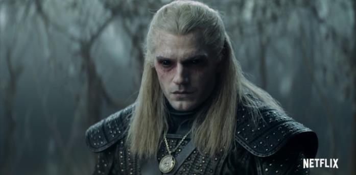Geralt dopo la pozione nella serie Netflix