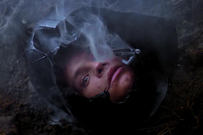 Immagine di Luke nell'elmo di Vader