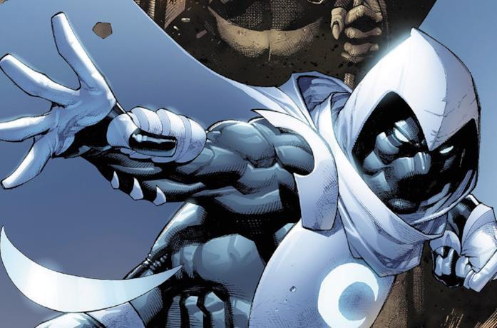 Moon Knight in una tavola Marvel Comics