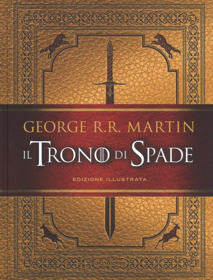 Copertina del primo libro de Il Trono di Spade