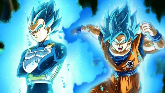 Dragon Ball Super Goku e Vegeta Super Saiyan Blue