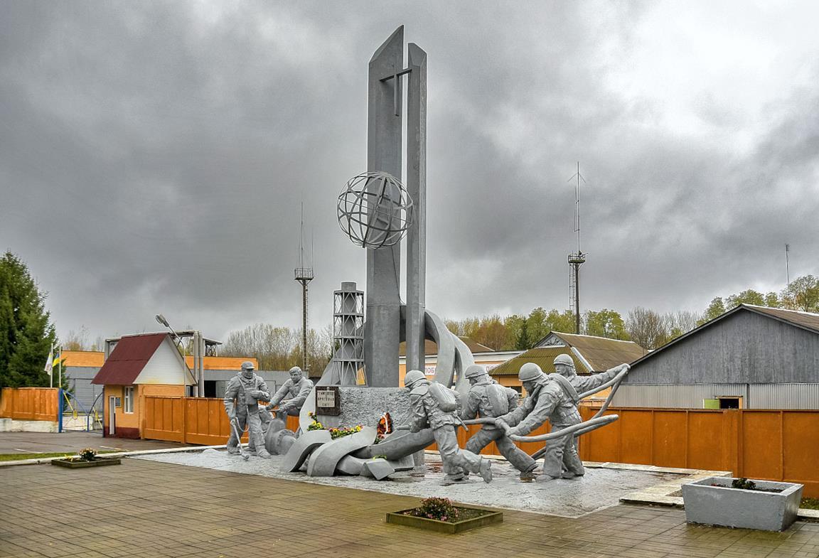 Il monumento agli eroi di Chernobyl, che hanno salvato il mondo da un olocausto nucleare