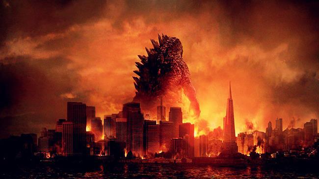 Godzilla di spalle