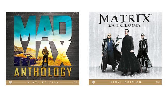 Packshot della Mad Max Anthology e la trilogia di Matrix nella Vinyl Edition