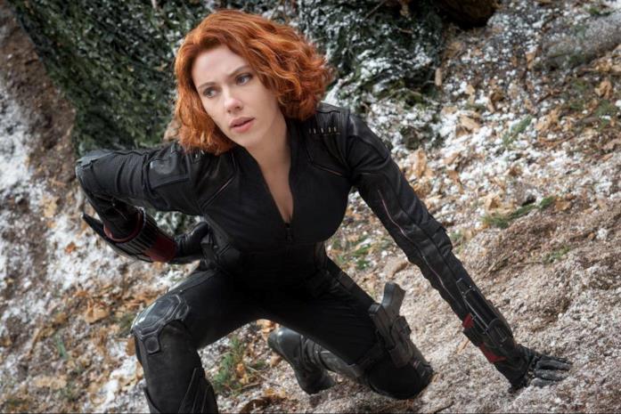 Scarlett Johansson come Vedova Nera in Avengers: Age of Ultron