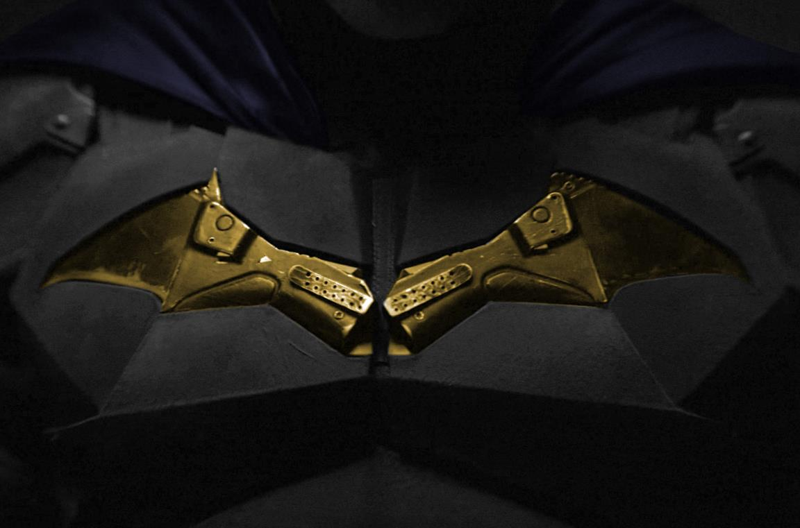 Il logo sulla nuova Batsuit
