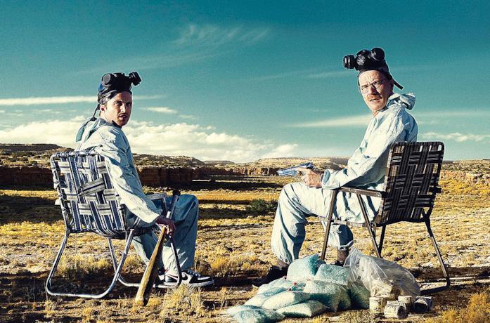 Bryan Cranston e Aaron Paul in Breaking Bad