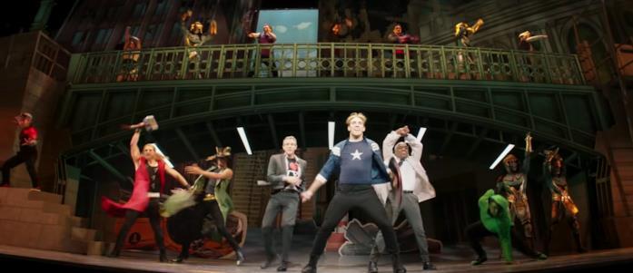 Gli attori a teatro per Rogers The Musical