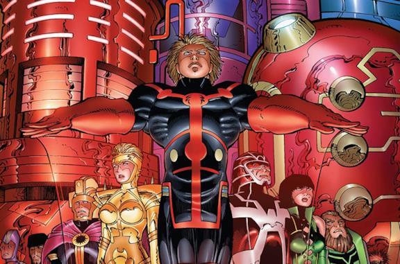 Dettaglio della cover di Eternals By Neil Gaiman