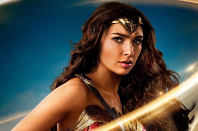 Un primo piano di Gal Gadot in Wonder Woman