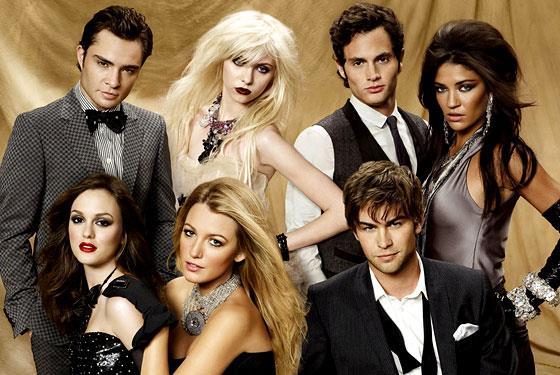 Un'immagine promozionale del cast di Gossip Girl