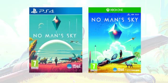 Le boxart di No Man's Sky in versione retail