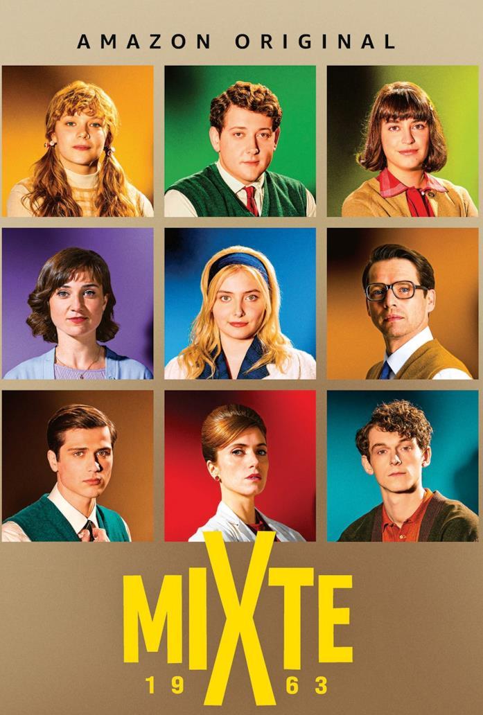 Il poster con il cast principale della serie Il liceo Voltaire