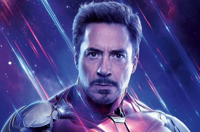 Un primo piano di Tony Stark/Iron Man