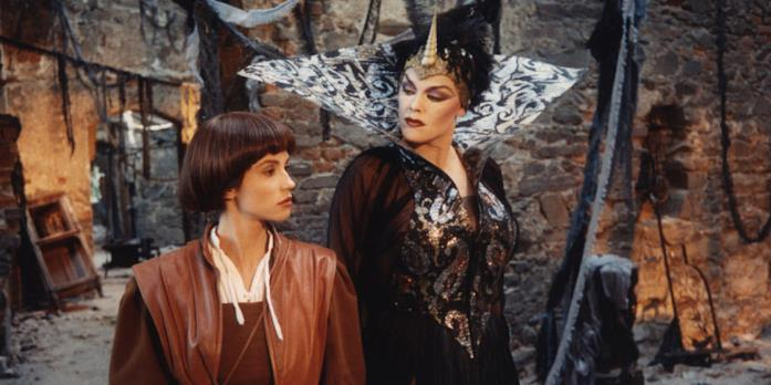 Alessandra Martines e Brigitte Nielsen in Fantaghirò