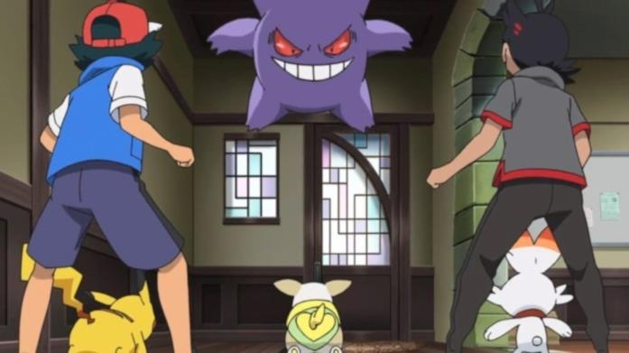 Gengar, Go e Ash  nell'episodio 16