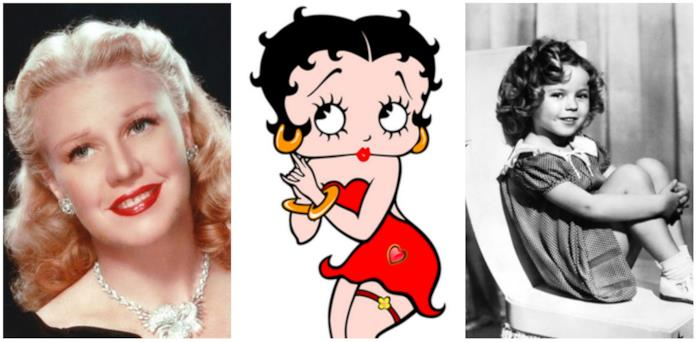 Ginger Rogers, Betty Boop e Shirley Temple