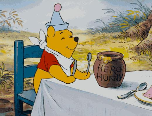 Winnie the Pooh mangia